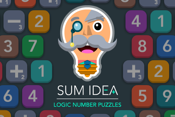 SUM IDEA - A free-to-play sliding, logic, number puzzle for iPhone, iPad and iPod touch. Download for free from the App Store.