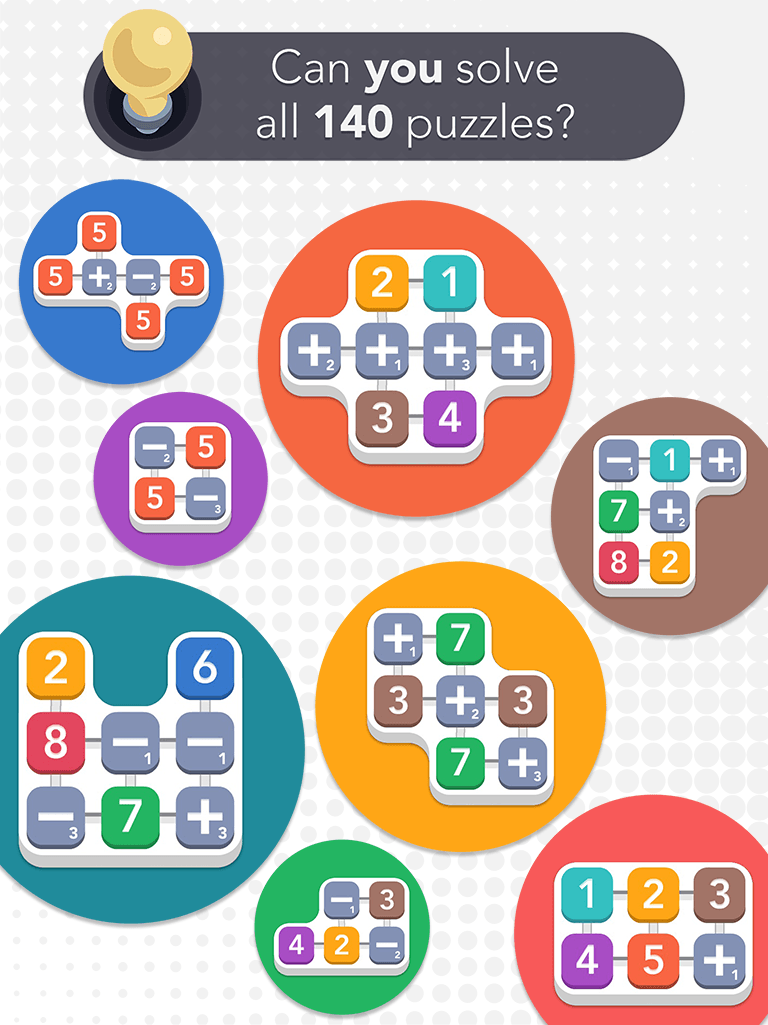 iPad SUM IDEA - Can you solve 140 puzzles?