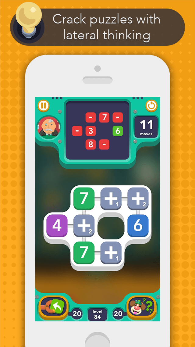 iPhone SUM IDEA - Gameplay Screen