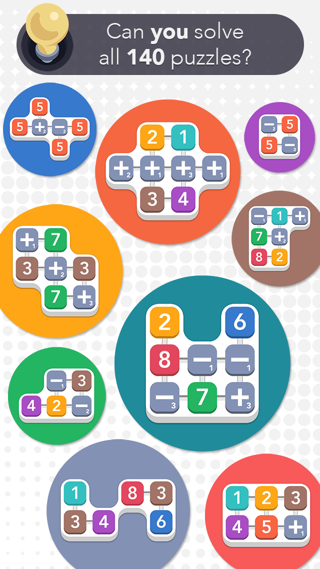 iPhone SUM IDEA - Can you solve 140 puzzles?