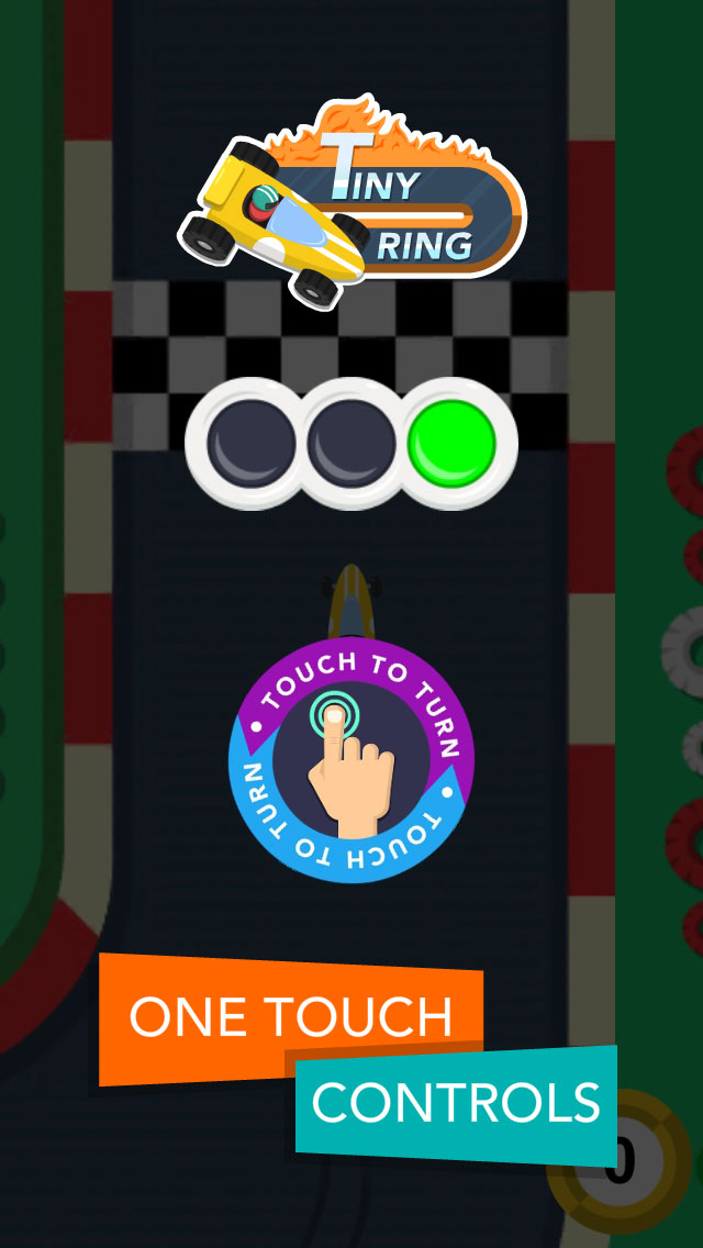 Tiny Ring - Free-to-play iOS endless racing game - One touch controls